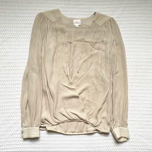 Parker nude silk blouse medium
